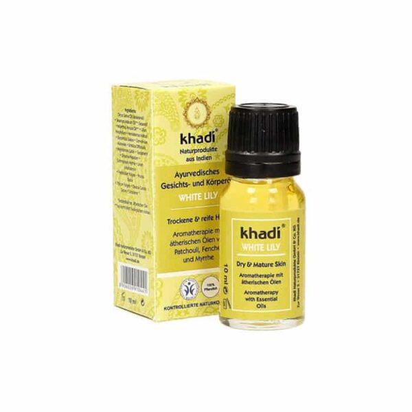 L'Olio al White Lily Ayurvedico di Khadi è un ottimo rimedio contro la pelle secca. Perfetto per una pelle matura, quest'olioayurvedico ha proprietà benefiche, sia per il corpo che per la mente.