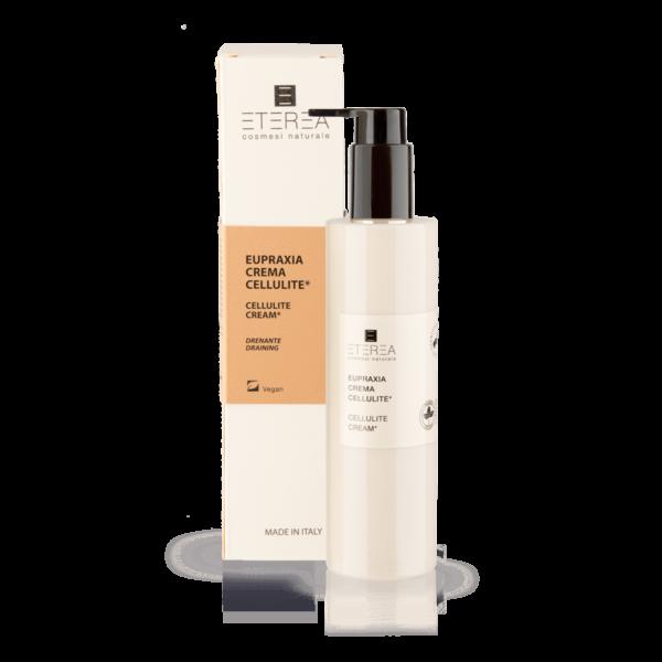 Eupraxia Crema Anti Cellulite di Eterea è un emulsione leggera idratante e rinvigorente. Un vero e proprio trattamento d'urto mirato a contrastare la cellulite e la pelle a buccia d'arancia.