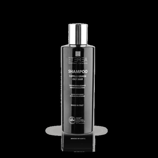 Lo Shampoo per Capelli Grassi di Eterea è uno shampoo dermopurificante indicato per capelli grassi, cute impura e oleosa.