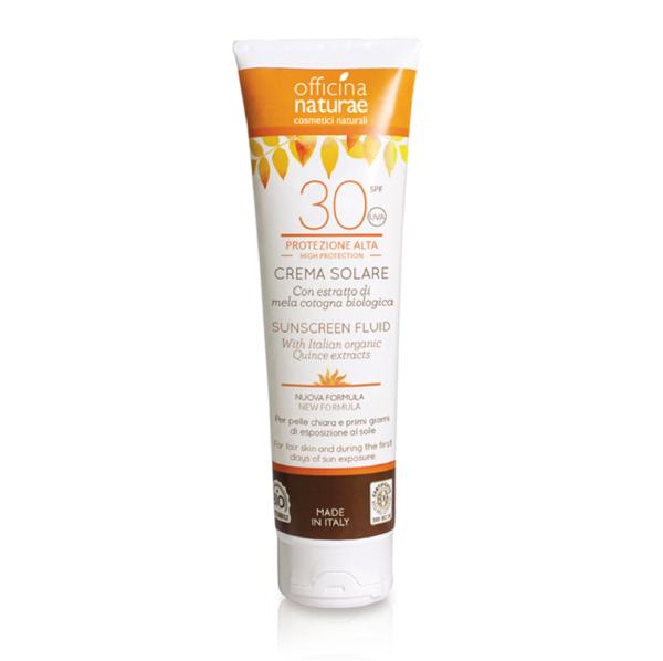 Crema Fluida Solare SPF 30 protezione alta - Officina Naturae