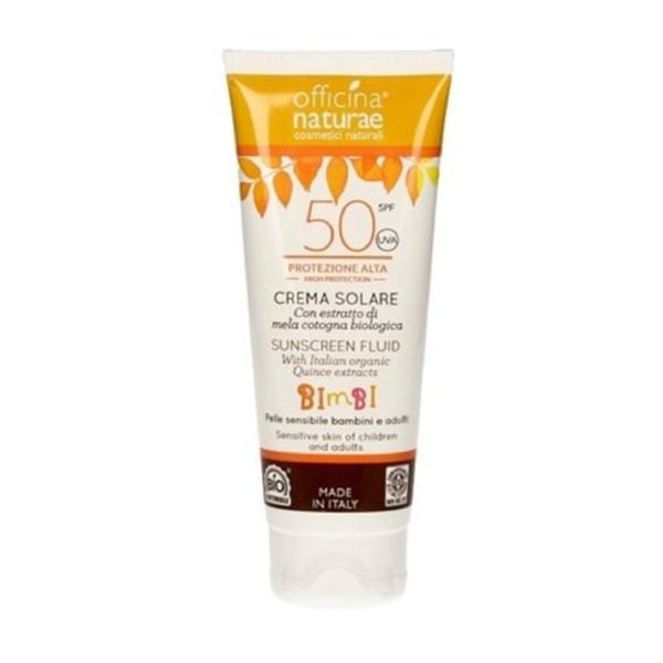 Crema fluida solare SPF 50 protezione alta BAMBINI & ADULTI- Officina Naturae