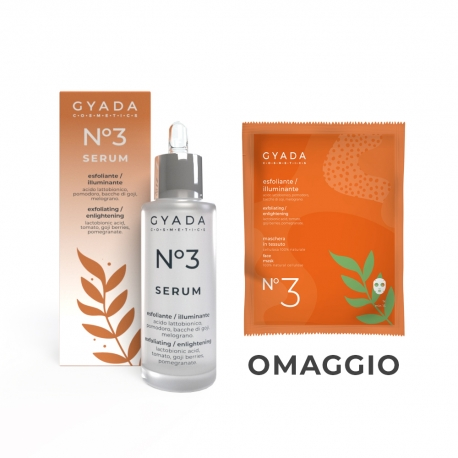 Siero Viso N. 3 Esfoliante : Illuminante - Gyada Cosmetics