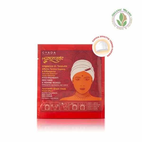maschera riflessante capelli rossi Gyada