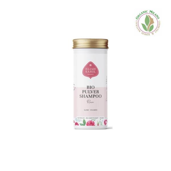 shampoo in polvere alla rosa per capelli fini
