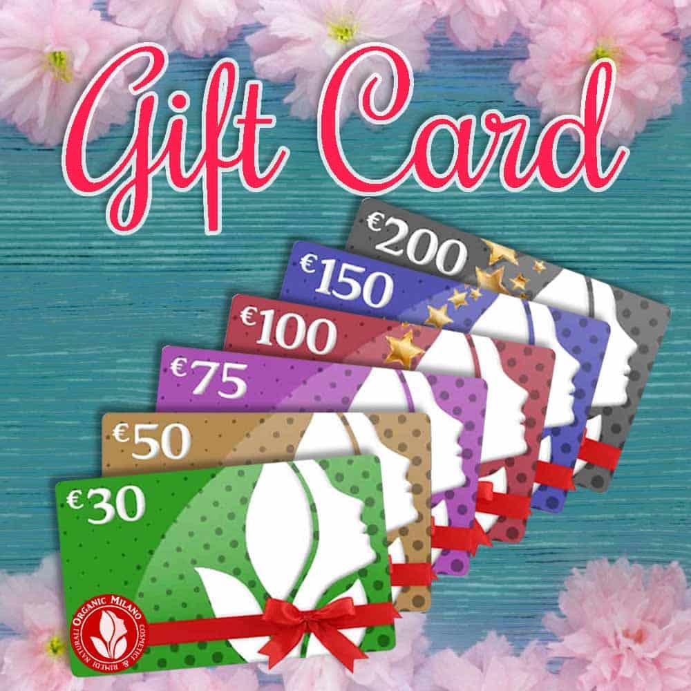 gift card organic milano 30 - 50 - 75 - 100 -150 - 200 euro